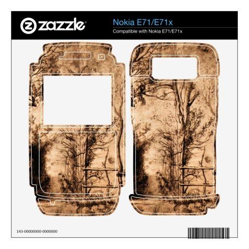 Heckenpfad by Paul Rubens Decal For Nokia E71