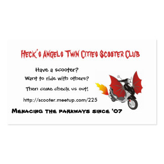Heck's Angels Cards Business Card