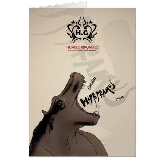 Hectogramo. la sociedad operística del hipopótamo tarjeta pequeña
