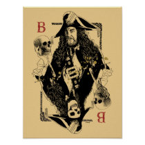 Hector Barbossa - Ruler Of The Seas Poster