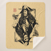 Hector Barbossa - Ruler Of The Seas Sherpa Blanket