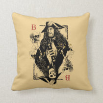 Hector Barbossa - Ruler Of The Seas Throw Pillow