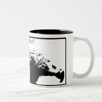 Hector - basic black Two-Tone coffee mug
