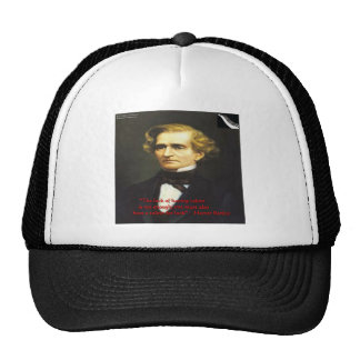 Hector Berliot Luck Of Talent Quote Gifts & Cards Hat