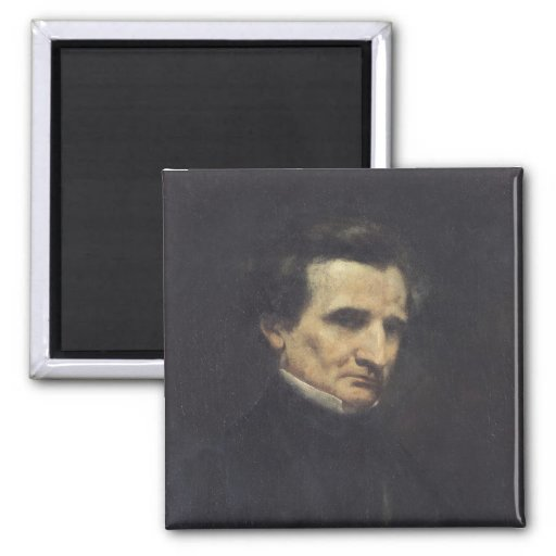 Hector Berlioz  1850 2 Inch Square Magnet