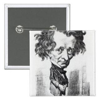 Hector Berlioz 2 Inch Square Button