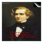 Hector Berlioz Luck For Talent Quote Poster