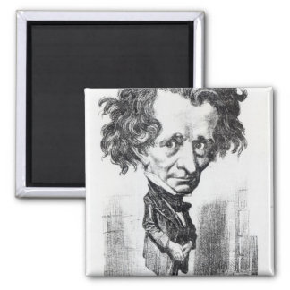 Hector Berlioz 2 Inch Square Magnet