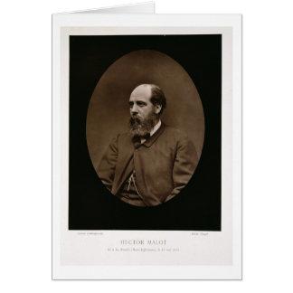 Hector Malot (1830-1907), de 'Galerie Contempora Tarjeta De Felicitación