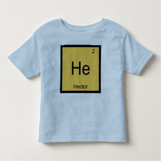 Hector  Name Chemistry Element Periodic Table Toddler T-shirt