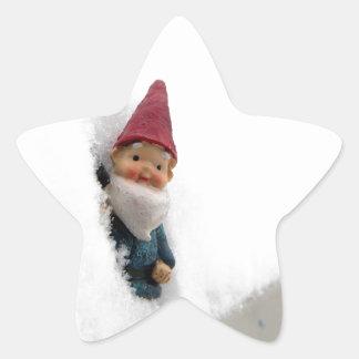 Hector sitiado por la nieve pegatina en forma de estrella