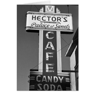 Hector's Palace of Sweets, 1930s Card