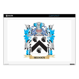 """Hedden Coat of Arms - Family Crest 17"""" Laptop Decals"""