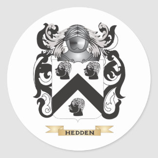 Hedden Coat of Arms (Family Crest) Round Sticker