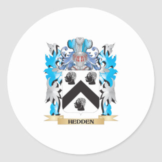 Hedden Coat of Arms - Family Crest Round Sticker