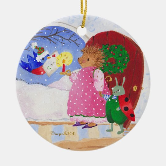 Heddy and Ben Ceramic Ornament