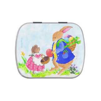 Heddy Hedgehog and the Easter Rabbit tin Jelly Belly Candy Tin