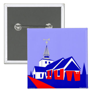 Hedensted Kirke 2 Inch Square Button