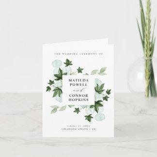 Hedera | Ivy Leaves Botanical Wedding Program