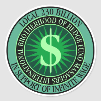Hedge Fund Managers Union Classic Round Sticker
