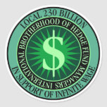 Hedge Fund Managers Union Sticker