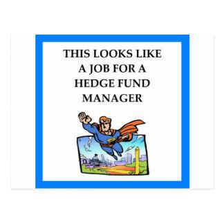 hedge fund postcard