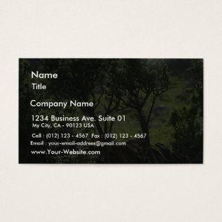 Hedge Green Tree From Mountain Business Card