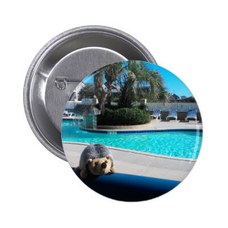 hedge resort pinback button