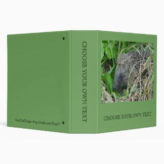 Hedgehog #1 3 ring binder