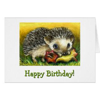 Hedgehog and apple card