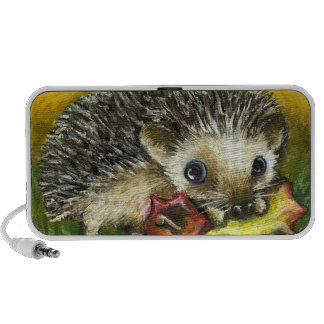 Hedgehog and apple iPhone speaker