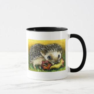 Hedgehog and apple mug