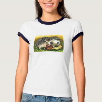 hedgehog and apple shirt