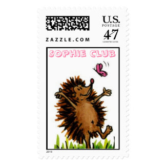 Hedgehog and Butterfly Postage