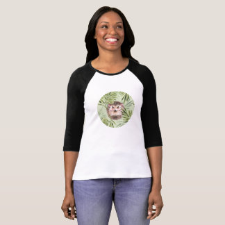 Hedgehog and green leaves T-Shirt