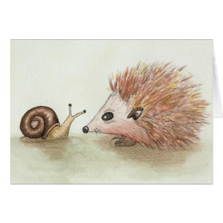 Hedgehog and Snail Card