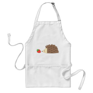 Hedgehog and Strawberry Adult Apron