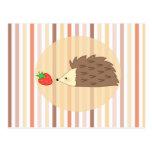 Hedgehog and Strawberry Postcards