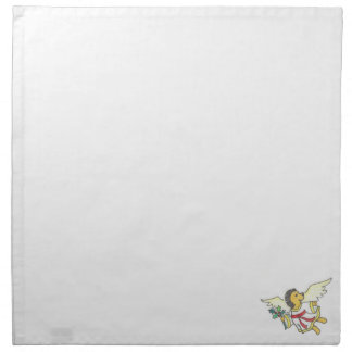 Hedgehog angel printed napkin