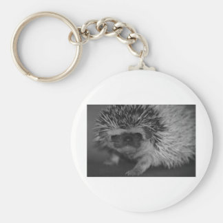 Hedgehog Baby in Black and White Keychain