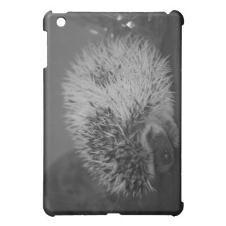 Hedgehog Baby with Easter Egg in Black and White iPad Mini Cover