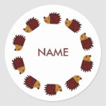 Hedgehog Back To School Stickers!