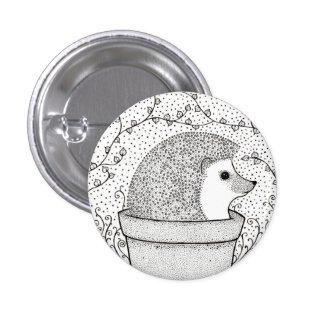 Hedgehog Badge 1 Inch Round Button