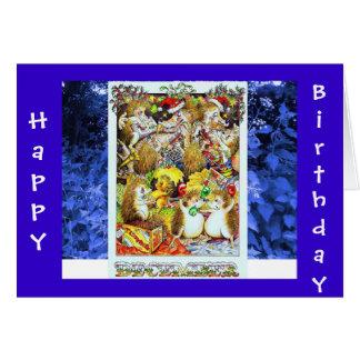 Hedgehog Birthday Card December