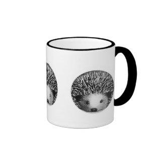 Hedgehog Black & White Mug