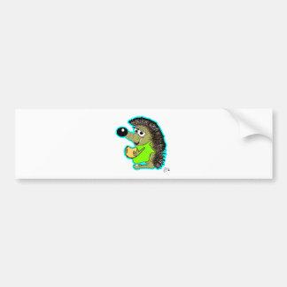 hedgehog blue bumper stickers