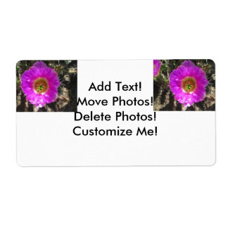 Hedgehog Cactus  Flower Label
