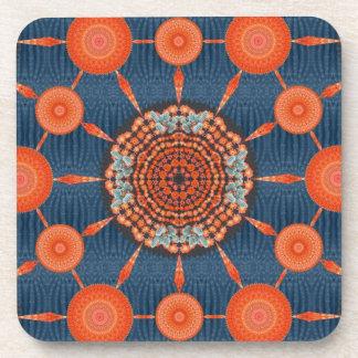 Hedgehog Cactus Mandala Array Coaster