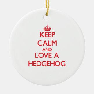 Hedgehog Ceramic Ornament