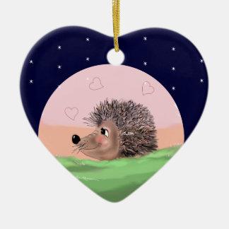 Hedgehog Christmas heart Christmas Ornament